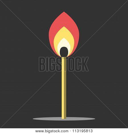 Burning Match In Darkness