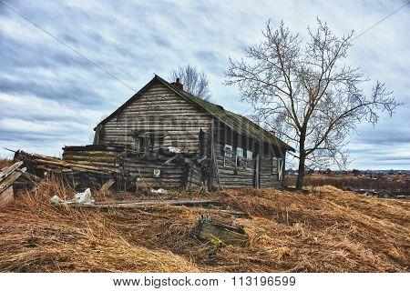 Old ruined farmhouse.