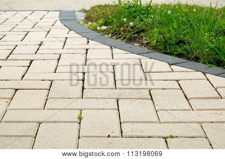 Alternating Rectangular Pavers