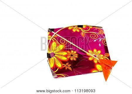 colorful kite isolated on white