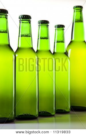 Green bottle of beer