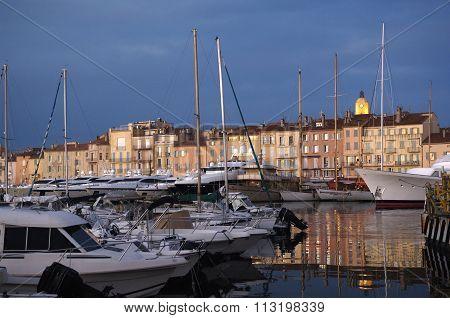 Harbor of Saint Tropez, French Riviera