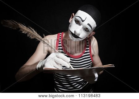 Mime With Quill