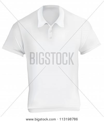 White Polo Shirt Design Template