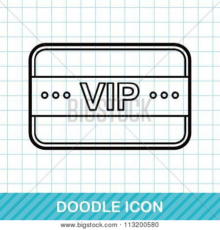 Vip Card Doodle