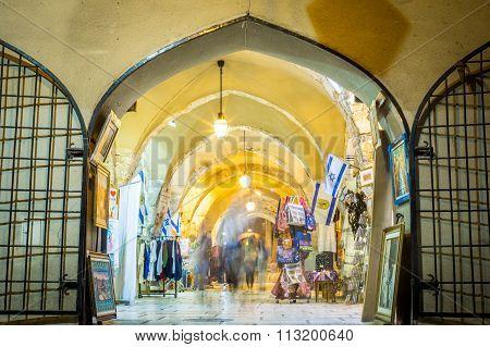 Shops In Jewish Quarter Of Jerusalem
