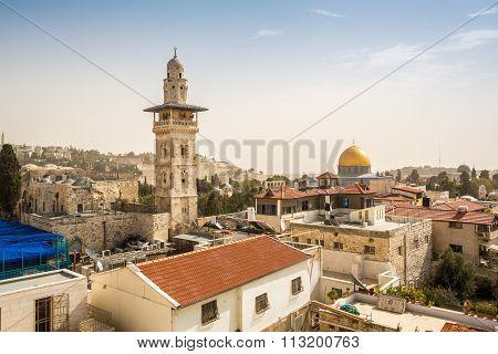 Panorama Of Jerusalem City Center, Israel
