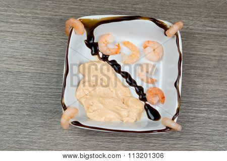 Shrimps With Cocktail Sauce