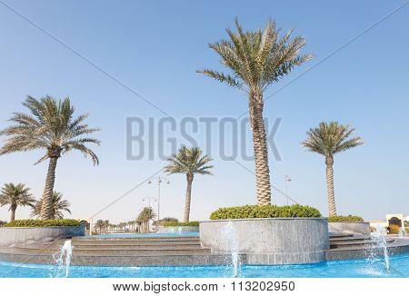 Fountain At The Pearl, Qatar