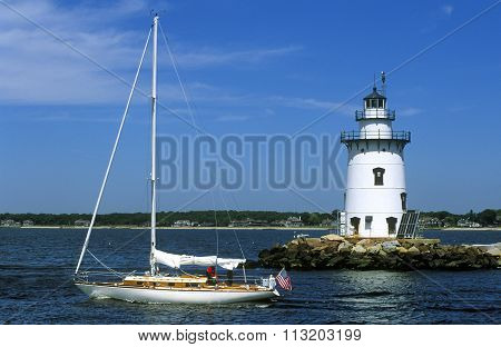 Connecticut's Saybrook Breakwater Lighthouse