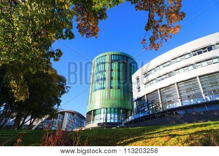 Aberdeen Scotland - 21 December 2015 The Robert Gordon University (rgu) In Aberdeen Time Lapse Foota