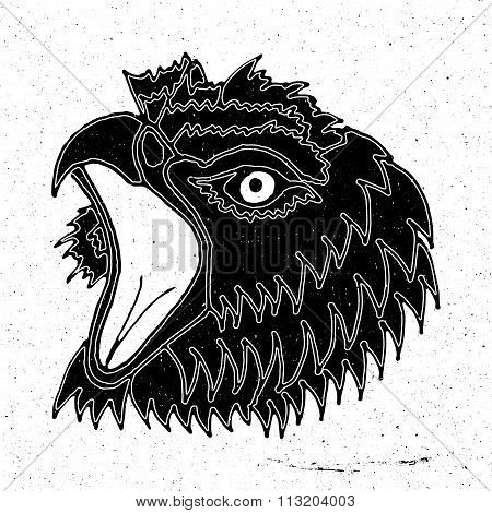 Drawing the head of a screaming eagle
