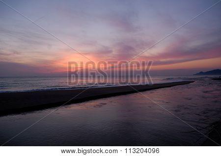 Sunrise Of La Gola Del Ter In Costa Brava, Spain