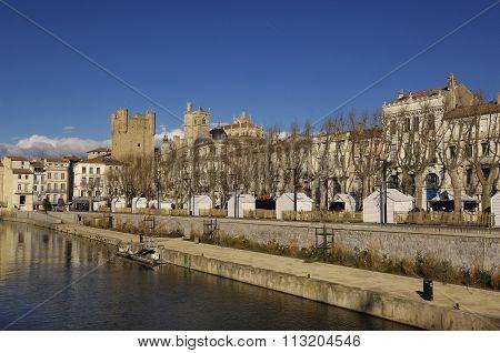 Canal De La Robine In Narbonne, Languedoc-roussillon, France