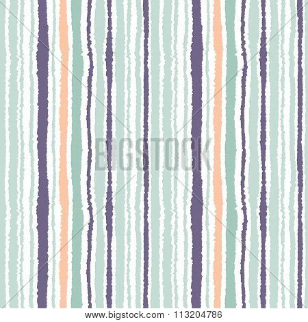 Seamless strip pattern. Vertical lines with torn paper effect. Shred edge background. Light and dark