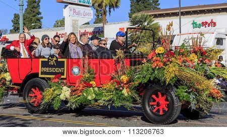 Rose Parade At Pasadena, California, Usa - January 1, 2016