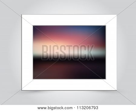 Sunset Colors Abstract Blur In Mat Frame