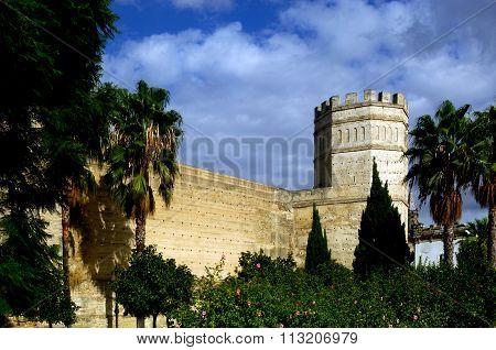 Arab Walls In Jerez De La Frontera, Cadiz, Andalucia