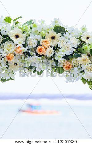 Wedding Decorated On Beach Wedding Setup