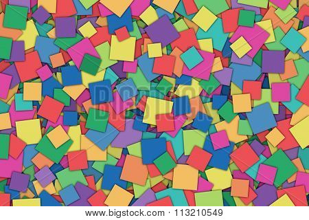 A Colorful Abstract Background with Scattered Squares
