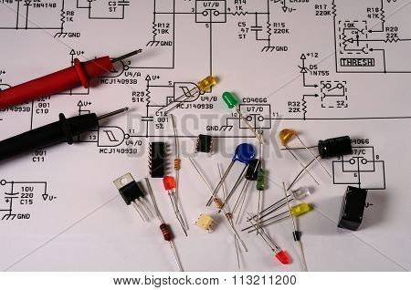 Electronic Electrical Schematic And Parts