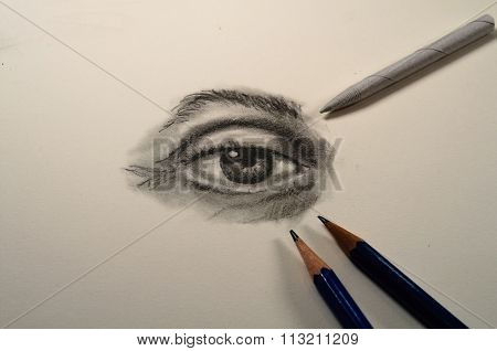 Pencil Drawing Of An Eye