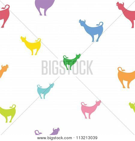 Cow Vector Art Background Design For Fabric And Decor. Seamless Pattern