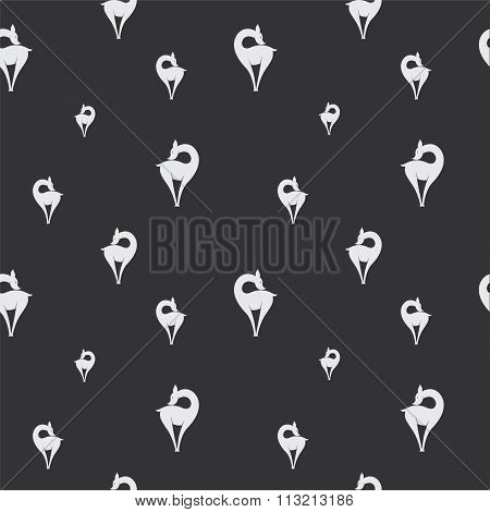 Deer Vector Art Background Design For Fabric And Decor. Seamless Pattern