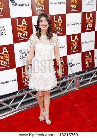 Alessandra Mastroianni at the 2012 Los Angeles Film Festival premiere of