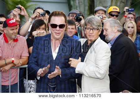 LOS ANGELES, USA - Mickey Rourke and Eric Roberts at the Mickey Rourke Hand And Footprint Ceremony held at Grauman's Chinese Theater in Hollywood, USA on October 31, 2011.