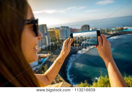 Photographing Puerto de la Cruz City on Tenerife island