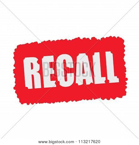 Recall White Stamp Text On Blood Drops Red Background