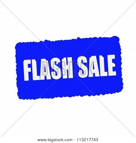 Flash Sale White Stamp Text On Blood Drops Blue Background