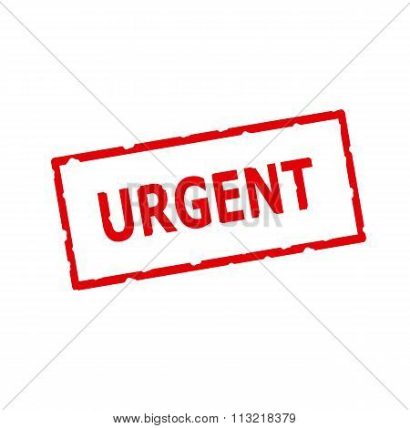 Urgent Red Stamp Text On Rectangular White Background