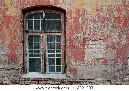Window and red wall