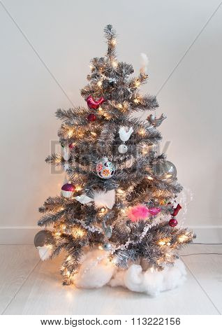 Isolated Decorated Christmas Tree