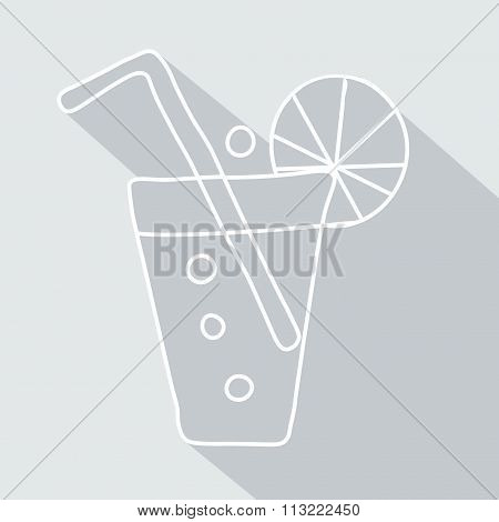 soda pop icon with glaze. Vector Illustration eps 10