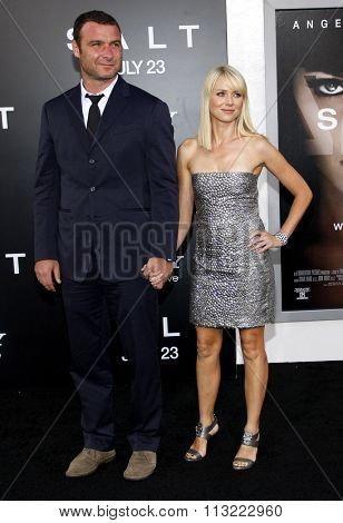 HOLLYWOOD, CALIFORNIA - July 19, 2010. Liev Schreiber and Naomi Watts at the Los Angeles premiere of