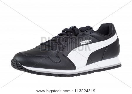 Varna , Bulgaria - October 22, 2015 Puma Runner Full Shoe. Puma, A Major German Multinational Compan