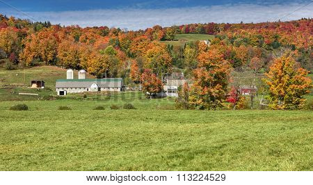 Beautiful generic dairy farm in Vermont, USA