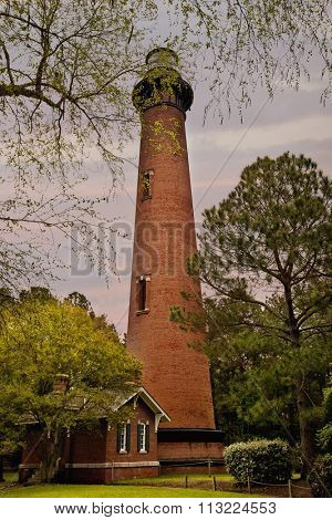 The Currituck Beach Lighthouse is a leading landmark on the Outer Banks
