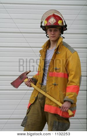 Jr Fireman In Gear