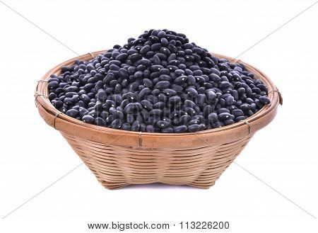 Black Beans On White Background