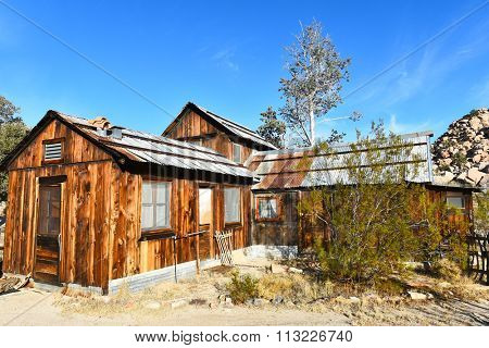 JOSHUA TREE, CALIFORNIA - JANUARY 1, 2016: Keys Ranch house in Joshua Tree National Park. Built by homesteader Bill Keys.