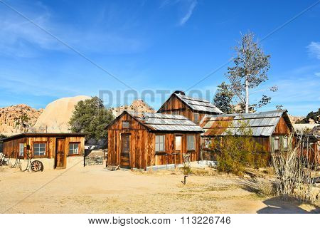 JOSHUA TREE, CALIFORNIA - JANUARY 1, 2016: Keys Ranch house and store in Joshua Tree National Park. Built by homesteader Bill Keys.