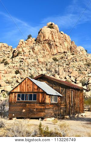 JOSHUA TREE, CALIFORNIA - JANUARY 1, 2016: School House at Keys Ranch in Joshua Tree National Park. Built by homesteader Bill Keys.