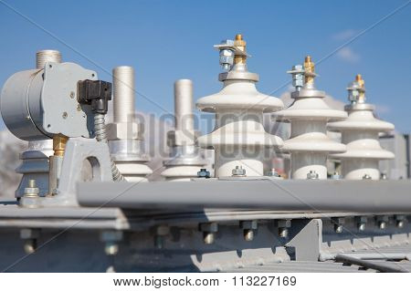 Industrial High Voltage Converter Detail Photo Stock Image