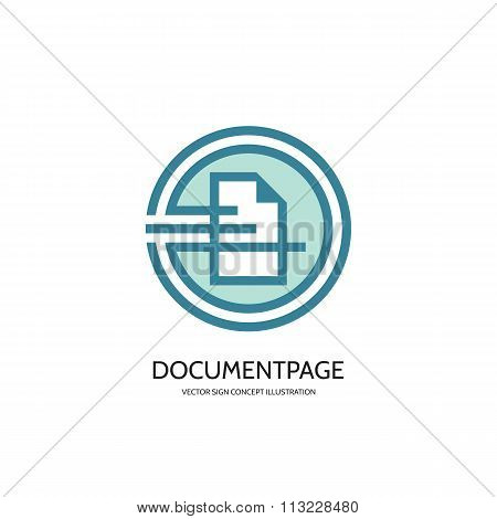 Document page - vector logo concept illustration. Document icon sign. Page icon sign. Business logo