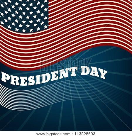 Presidents Day Background, United States Flag. Vector Illustration Eps 10