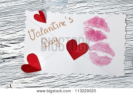 February 14 Valentines Day - Heart From Red Paper